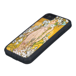 Alphonse Mucha - Lelie - Witte Grens Tough Xtreme iPhone 5 Hoesje