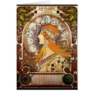 Alphonse Mucha Zodiac Briefkaarten 0