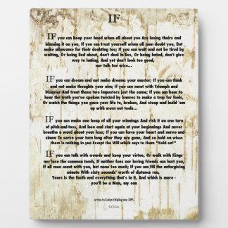 ALS Citaat door Rudyard Kipling (de auteur van het Fotoplaat