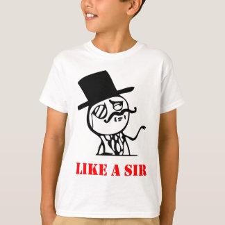 Als de heer - meme t shirt
