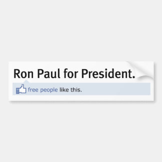 Als de Sticker van de Bumper van Ron Paul