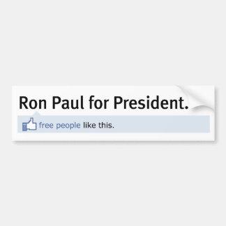 Als de Sticker van de Bumper van Ron Paul Bumpersticker