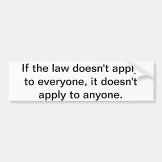 Als de wet bumpersticker