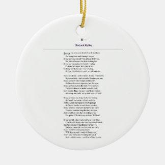 Als, door Rudyard Kipling Rond Keramisch Ornament