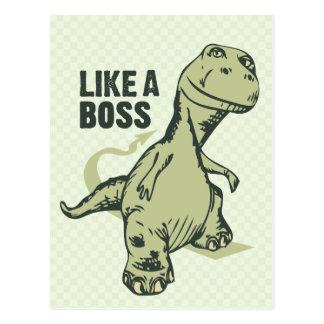 Als een Chef- Dinosaurus Briefkaart