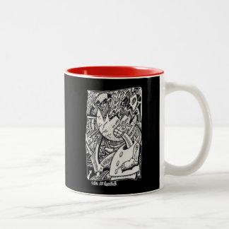 Als een Eierschaal, door Brian Benson Tweekleurige Koffiemok
