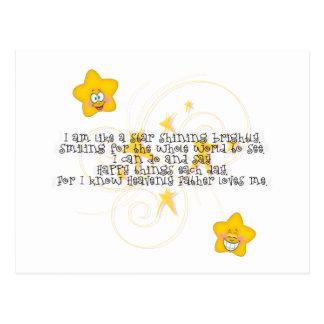 als een ster die helder glanzen briefkaart