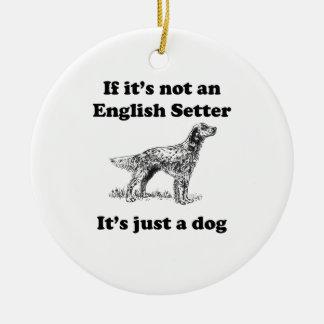 Als het geen Engelse Zetter is Rond Keramisch Ornament