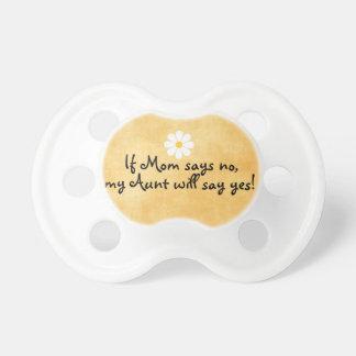 Als het Mamma nr zegt, zal mijn Tante, grappig Spenen
