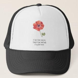 Als ik een bloem had trucker pet