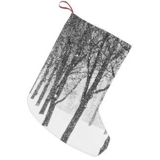als kant van I met bomen Kleine Kerstsok