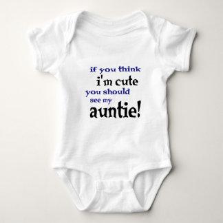 Als u denkt ik leuk ben zou u mijn Tante moeten Romper