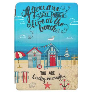 Als u het Gelukkige Citaat van het Strand van het iPad Air Cover