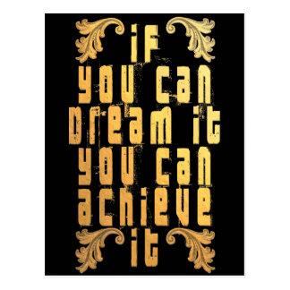 Als u het kunt dromen kunt u het bereiken briefkaart
