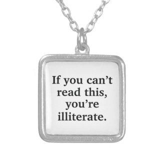 Als u niet dit kunt lezen ketting vierkant hangertje