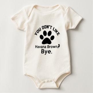 Als u van de geen Bruine Kat van Havana tot ziens Baby Shirt