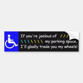 Als u van Mijn Parkeerplaats… Bumpersticker