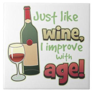 Als Wijn verbeter met de Decoratieve Tegel van de Tegeltje