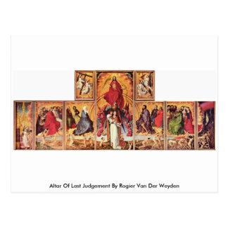 Altaar van Dag des oordeels door Rogier van der Briefkaart