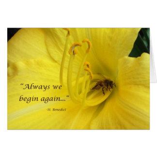 Altijd beginnen wij… opnieuw met wenskaart