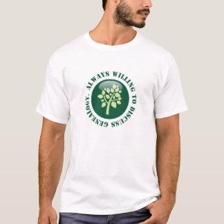 Altijd Bereid om Genealogie te bespreken T Shirt