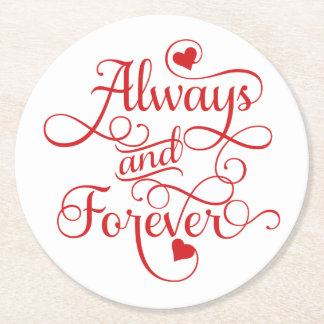 Altijd en voor altijd, Huwelijk of Valentijnsdag Ronde Viltjes