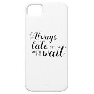 Altijd laat maar met een waarde van de wachttijd barely there iPhone 5 hoesje