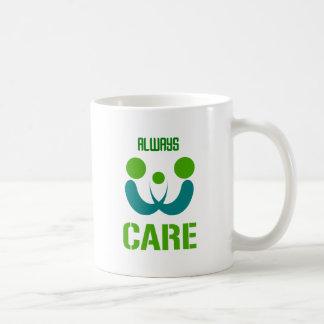 altijd zorg koffiemok