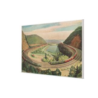 Altoona, Pennsylvania, Beroemde HoefijzerCurv Canvas Afdruk