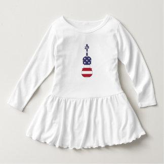 "Altviool ""Amerikaanse Vlag "" Baby Jurk"