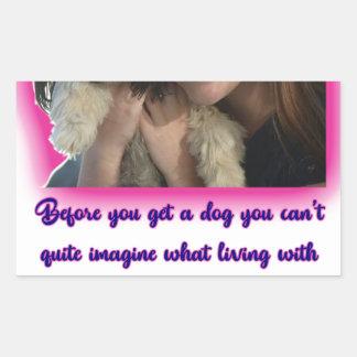 Alvorens u een hond krijgt rechthoekige sticker