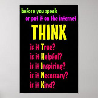 Alvorens u spreekt denk poster