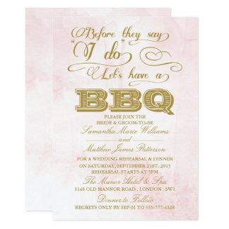 Alvorens zij zeggen ik laat BBQ hebben doe! 12,7x17,8 Uitnodiging Kaart