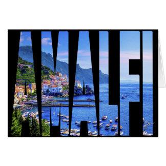 Amalfi Italië Art. van de Foto van de Typografie Kaart