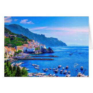 Amalfi Italië Europa het Art. van de Foto Briefkaarten 0