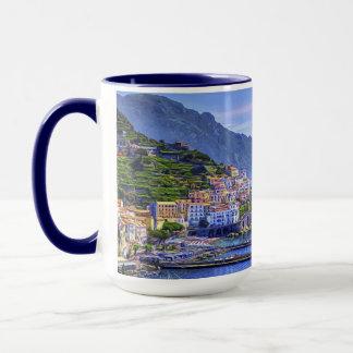 Amalfi Italië Europa het Kleurrijke Art. van de Mok