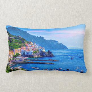 Amalfi Italië het Kleurrijke Art. van de Foto Lumbar Kussen
