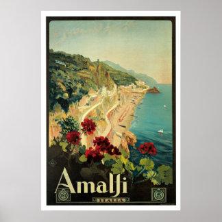 Amalfi Italië Vintage Reis Poster