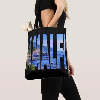 Amalfi Waterverf van de Foto van de Typografie van Draagtas