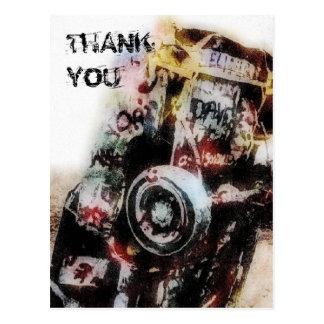Amarillo AutoGraffiti Grunge dankt u Briefkaart