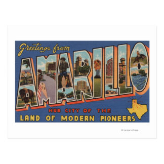 Amarillo, Texas - de Grote Scènes van de Brief Briefkaart