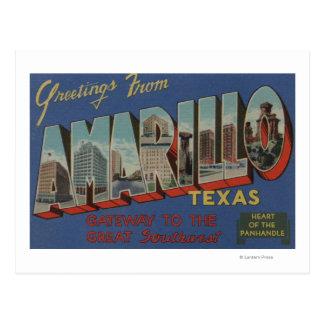 Amarillo, Texas (Hart van het pan-Handvat) Briefkaart
