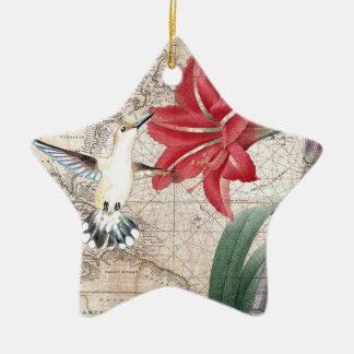 Amaryllis Mao Hummer Keramisch Ster Ornament
