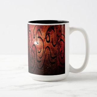 Amber Abstracte Mok! Tweekleurige Koffiemok