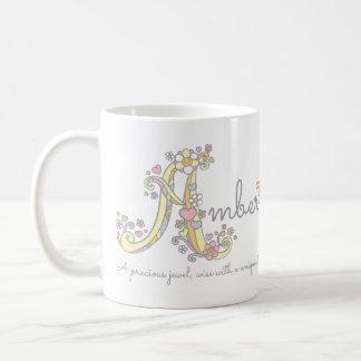 Amber brievenA naam die monogrammok betekenen Koffiemok