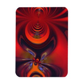 Amber Godin - Oranje en Gouden Hartstocht Rechthoek Magneet