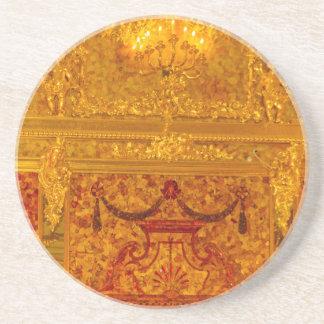 AmberZaal van Tsarskoye Selo van het Paleis van Zandsteen Onderzetter