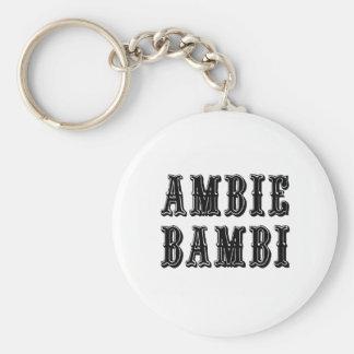 Ambie Bambi Basic Ronde Button Sleutelhanger