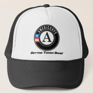 americorps logo, die Dingen Gedaan krijgen! Trucker Pet