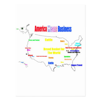 Amerika bedoelt Zaken Briefkaart